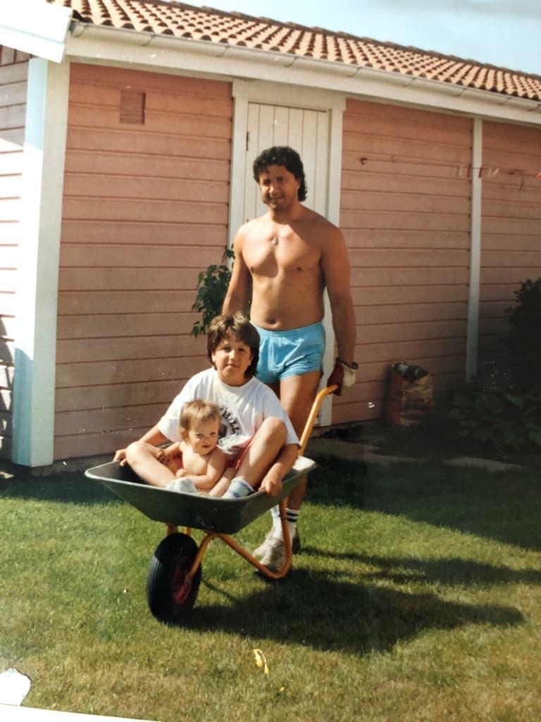 Daniel Ferm och pappa